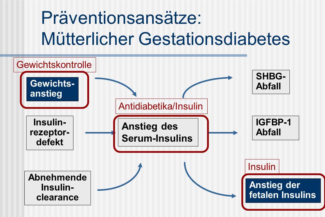 Präventionsansätze: Mütterlicher Gestationsdiabetes