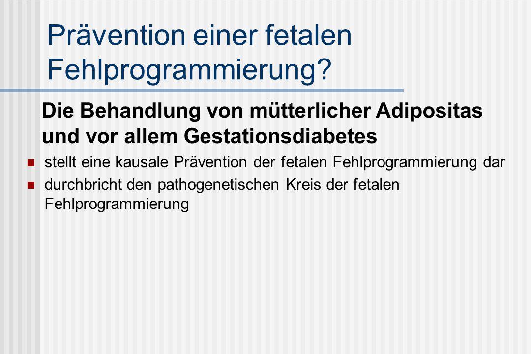 Prävention einer fetalen Fehlprogrammierung
