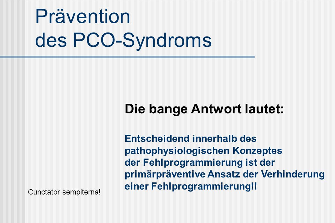 Prävention des PCO-Syndroms