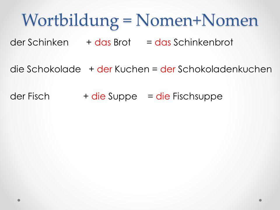 Wortbildung = Nomen+Nomen