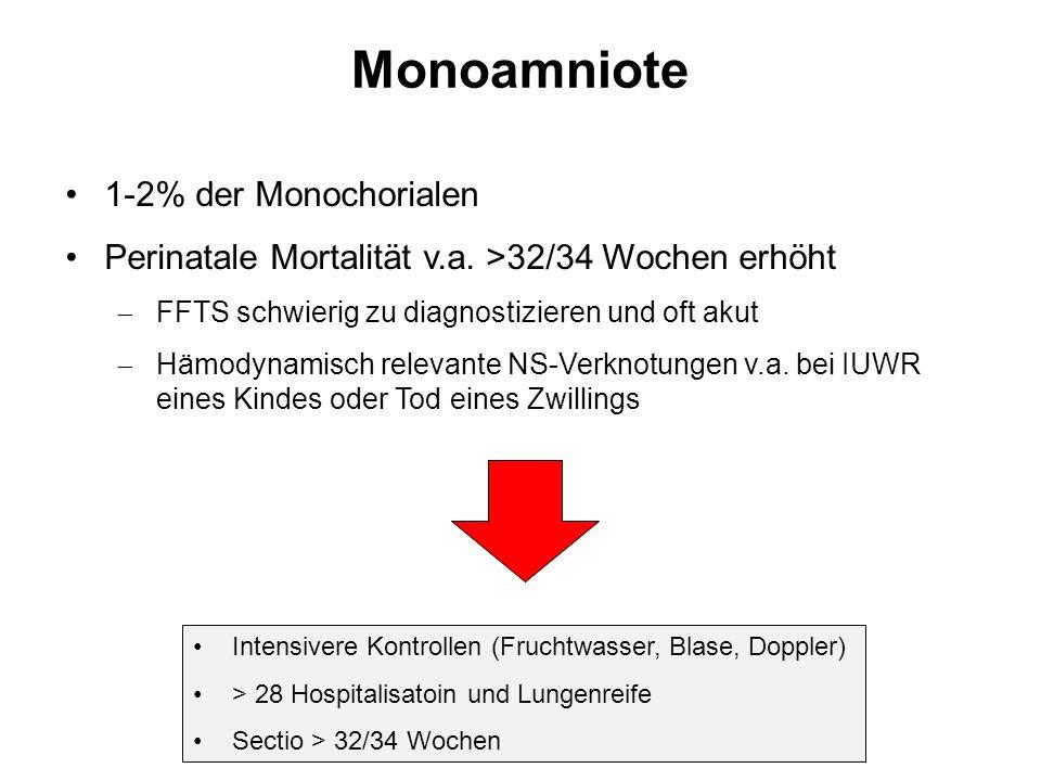 Monoamniote 1-2% der Monochorialen