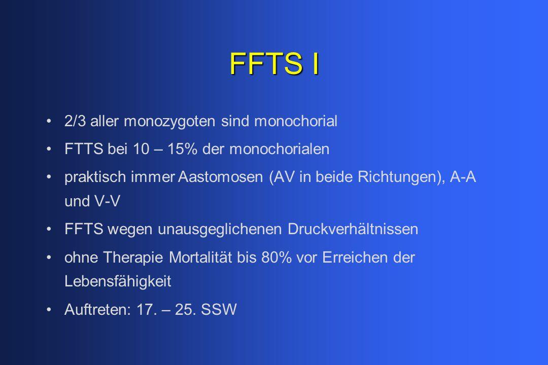 FFTS I 2/3 aller monozygoten sind monochorial