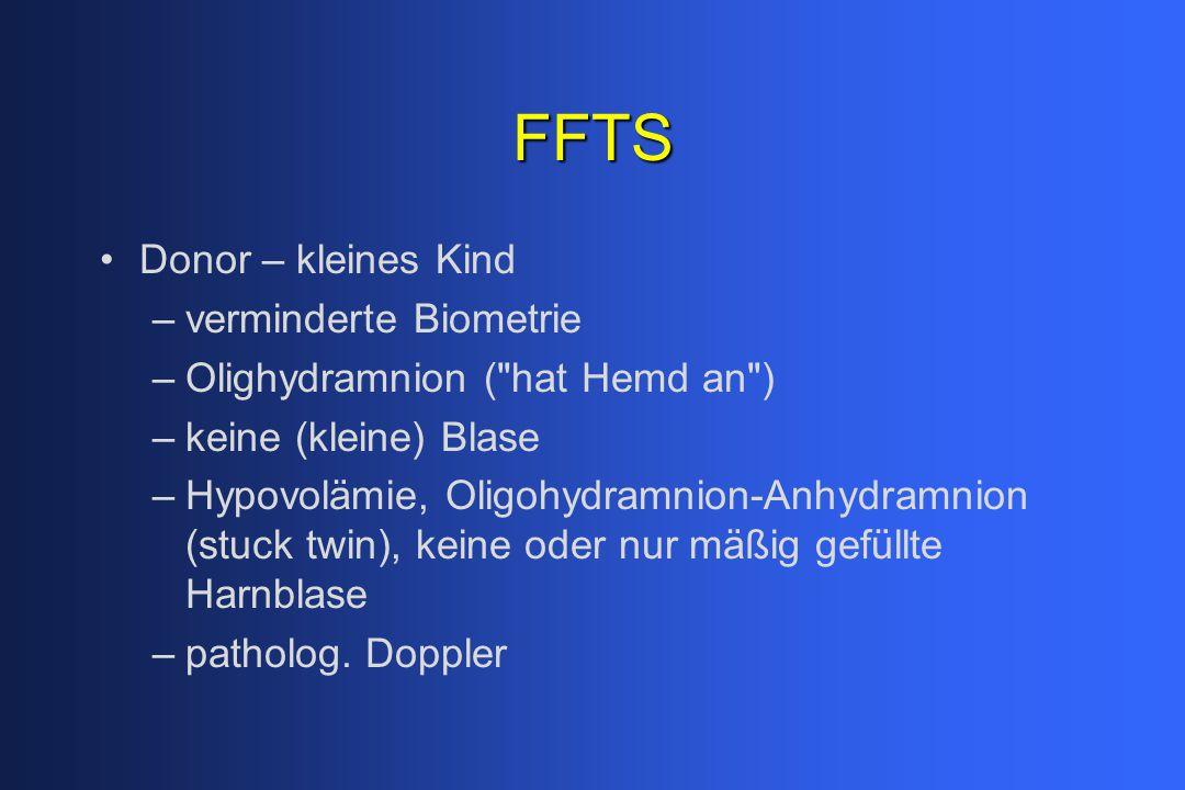 FFTS Donor – kleines Kind verminderte Biometrie