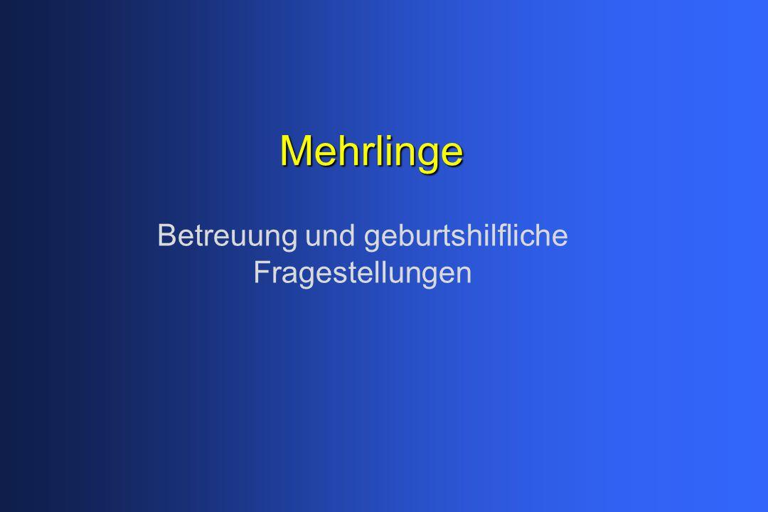Mehrlinge (Gemini) 1. Allgemeines 2. Diagnostik in der FS ...