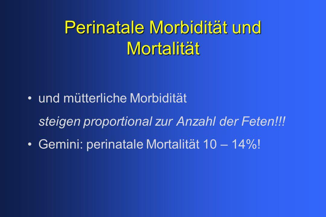 Perinatale Morbidität und Mortalität