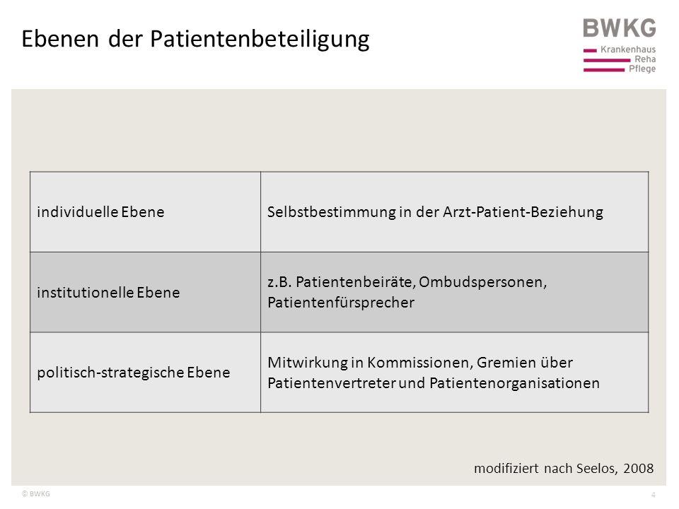 Ebenen der Patientenbeteiligung