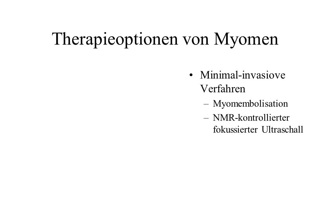 Therapieoptionen von Myomen