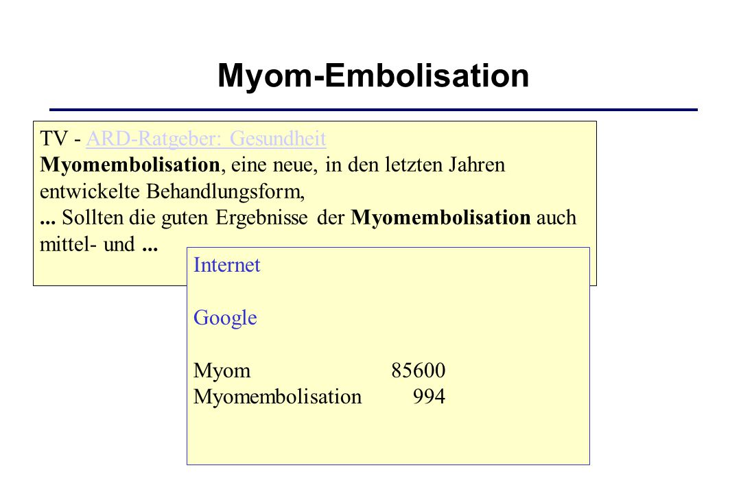 Myom-Embolisation