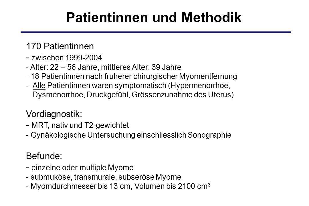 Patientinnen und Methodik