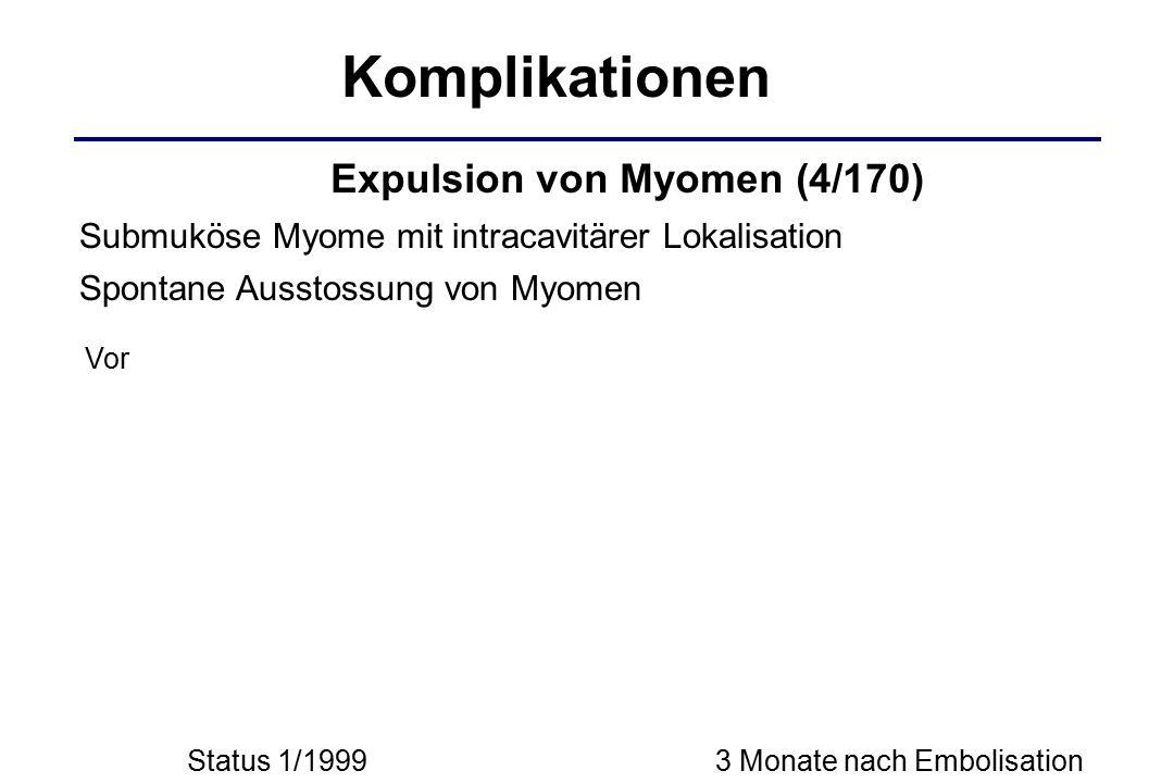 Komplikationen Expulsion von Myomen (4/170)