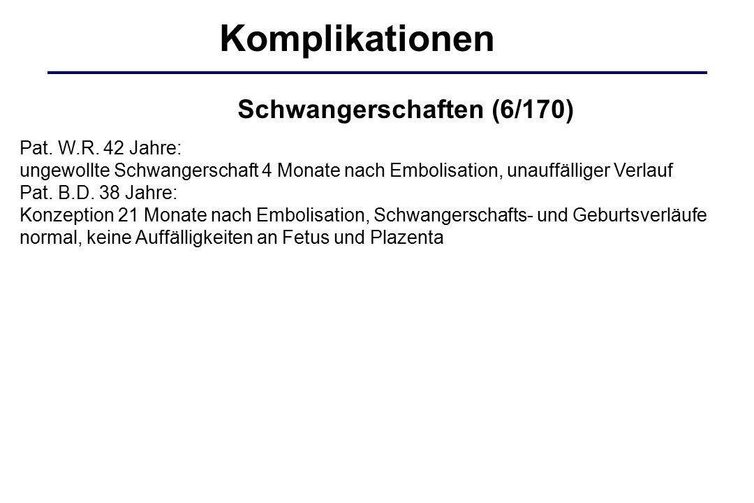 Komplikationen Schwangerschaften (6/170) Pat. W.R. 42 Jahre: