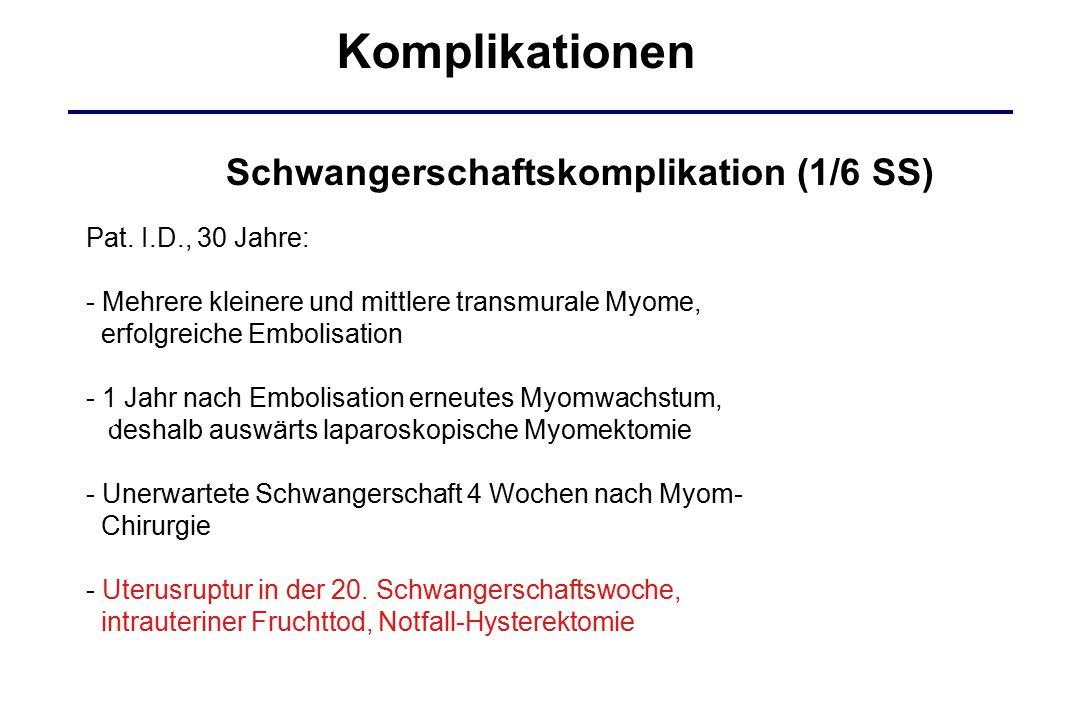 Komplikationen Schwangerschaftskomplikation (1/6 SS)