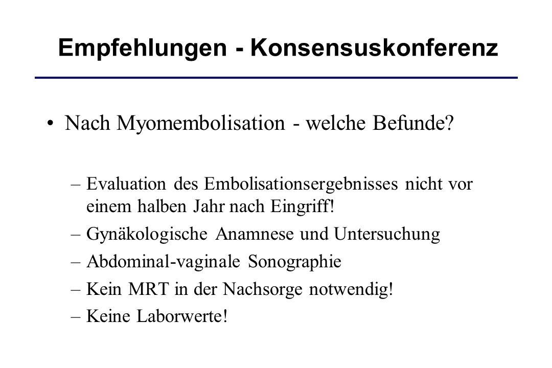 Empfehlungen - Konsensuskonferenz