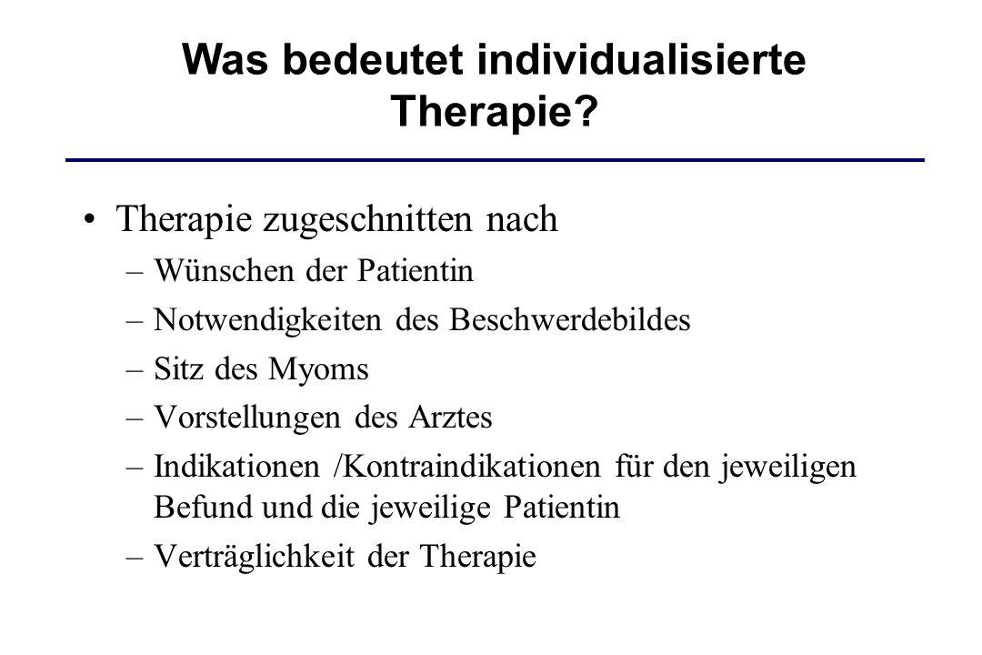 Was bedeutet individualisierte Therapie