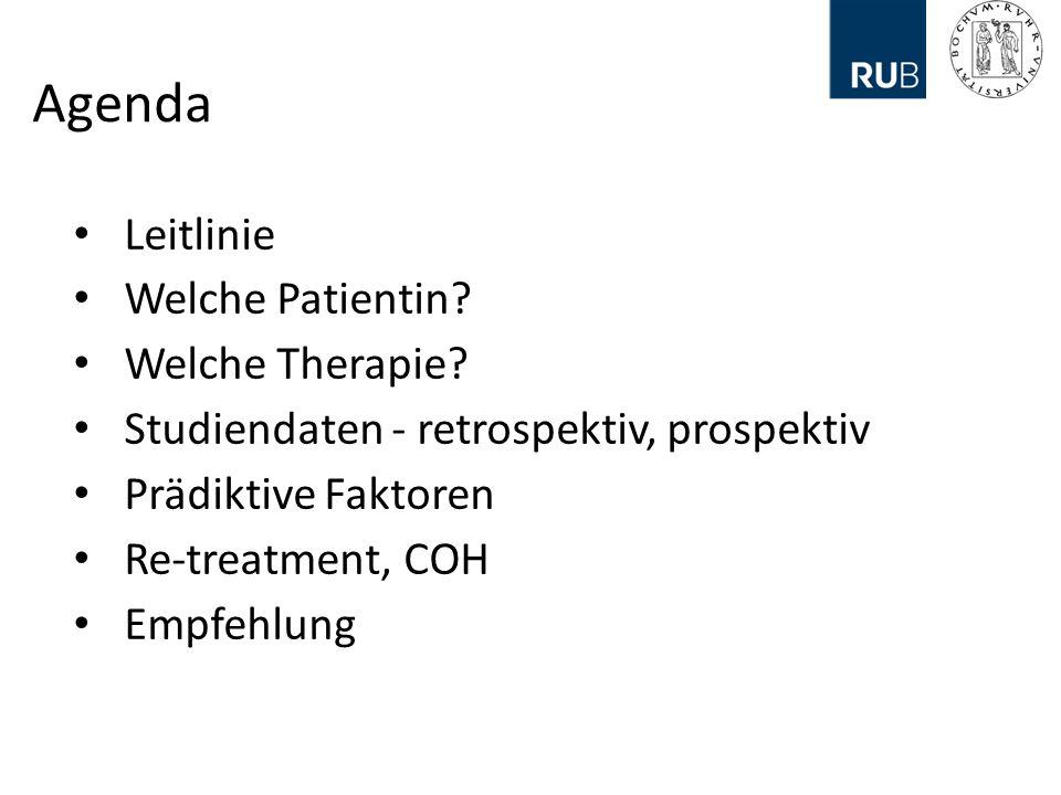 Agenda Leitlinie Welche Patientin Welche Therapie
