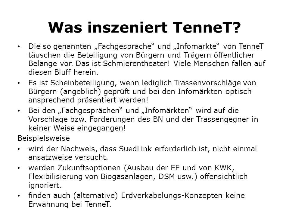 Was inszeniert TenneT