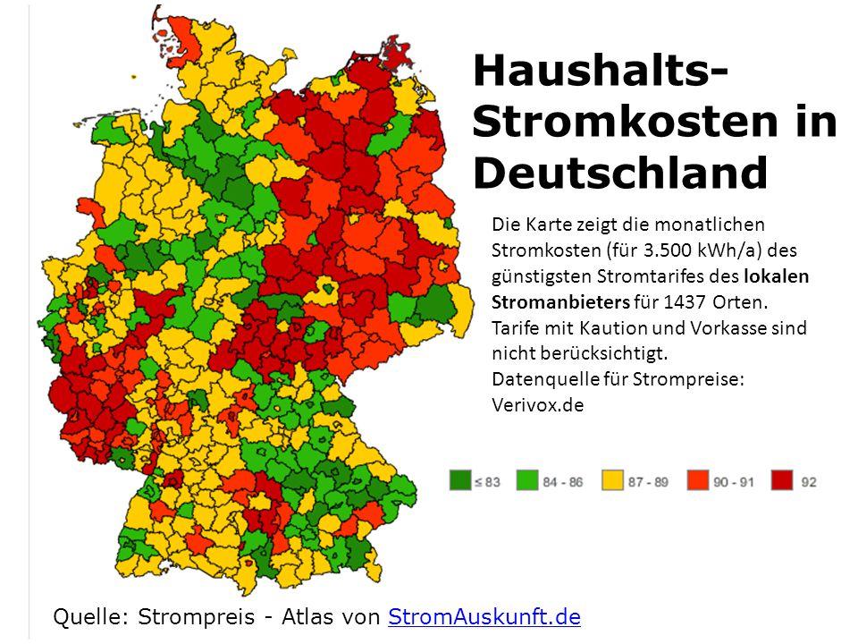Haushalts-Stromkosten in Deutschland