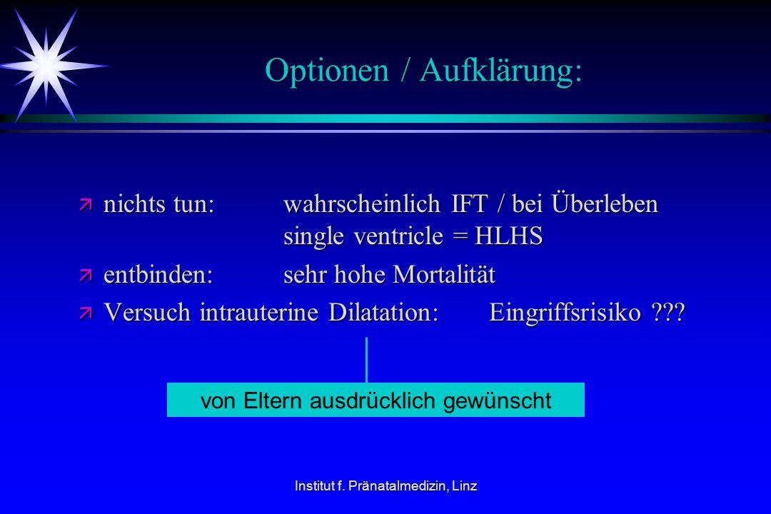 Optionen / Aufklärung: