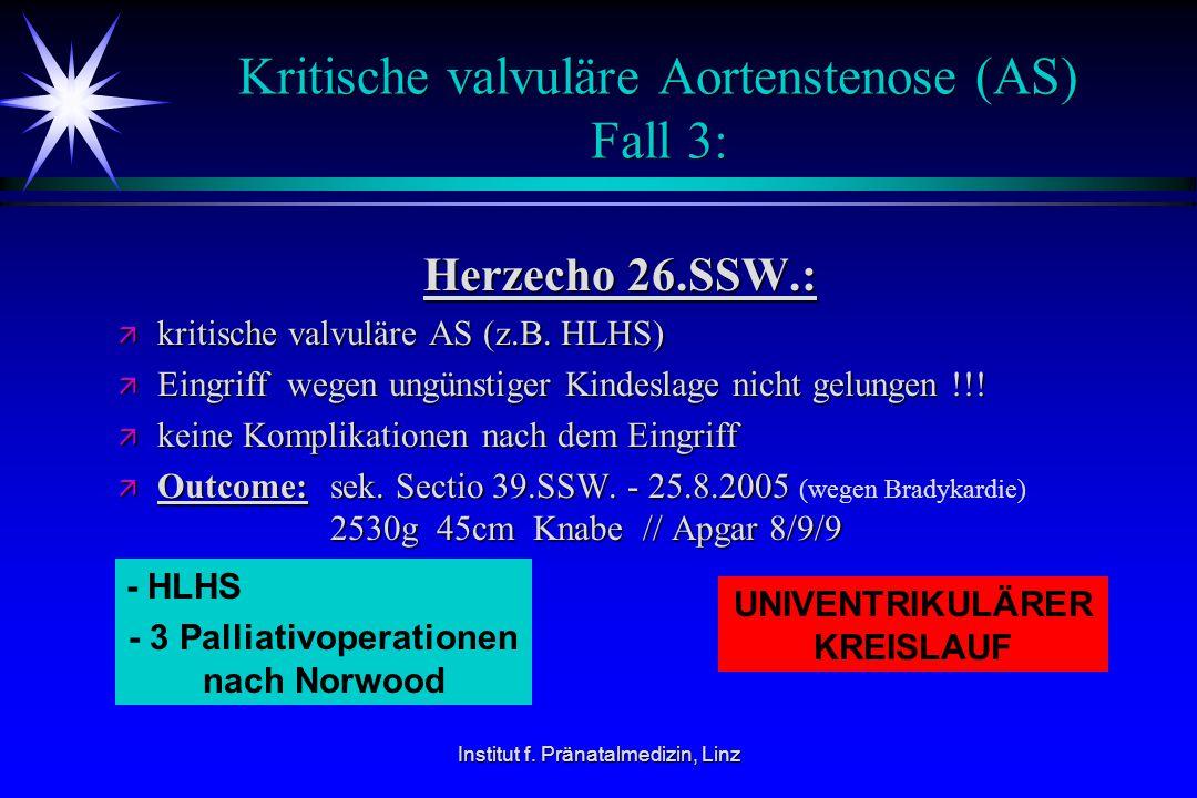 Kritische valvuläre Aortenstenose (AS) Fall 3: