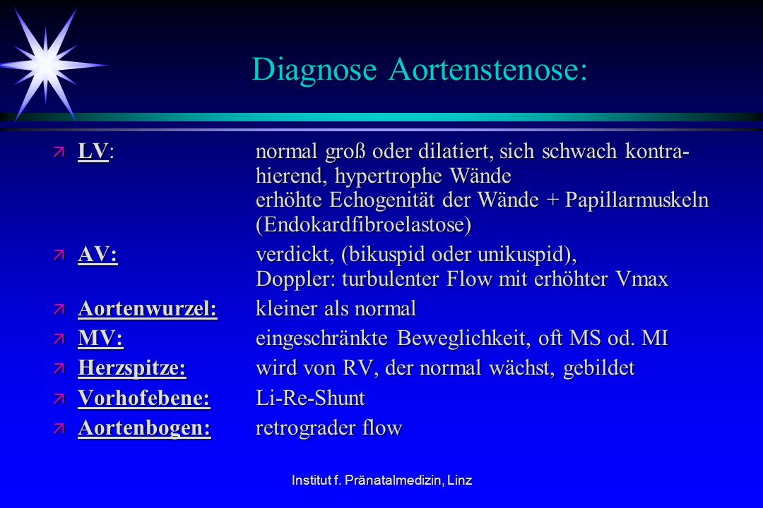 Diagnose Aortenstenose: