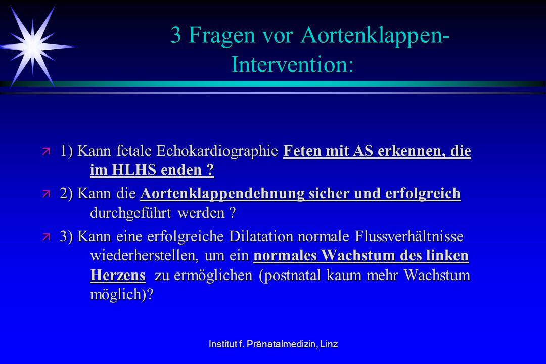 3 Fragen vor Aortenklappen- Intervention: