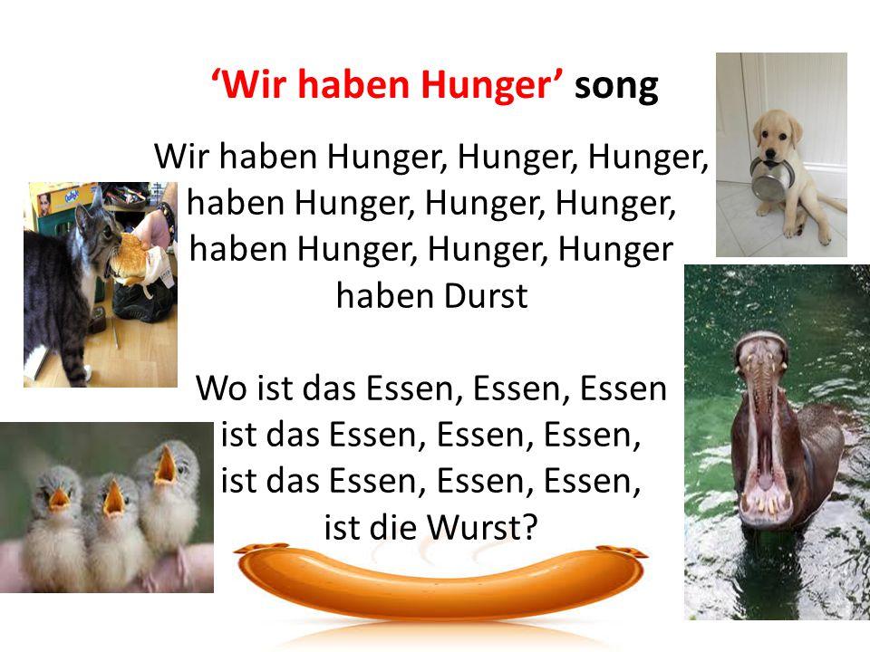 'Wir haben Hunger' song