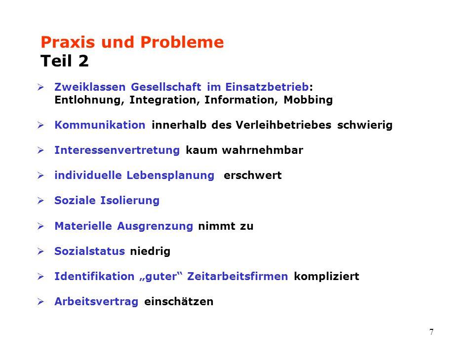Praxis und Probleme Teil 2