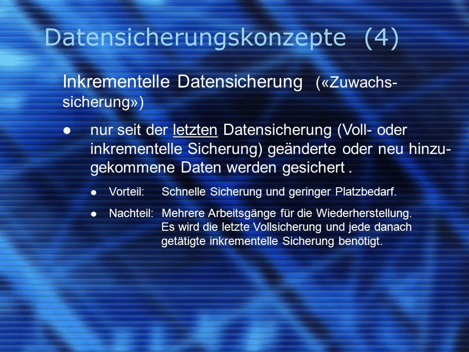 Datensicherungskonzepte (4)