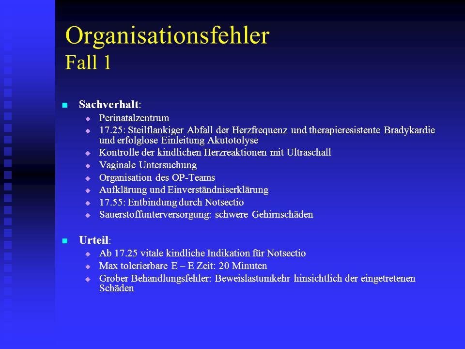 Organisationsfehler Fall 1