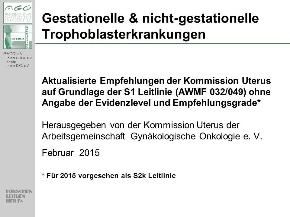 Gestationelle & nicht-gestationelle Trophoblasterkrankungen