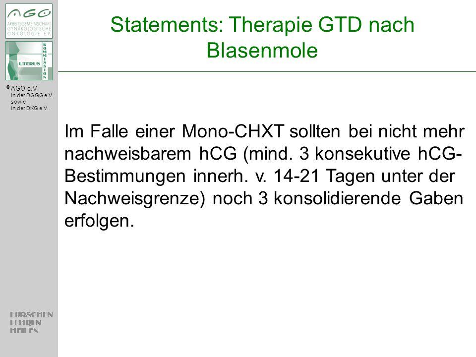 Statements: Therapie GTD nach Blasenmole
