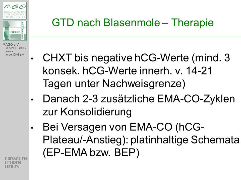 GTD nach Blasenmole – Therapie
