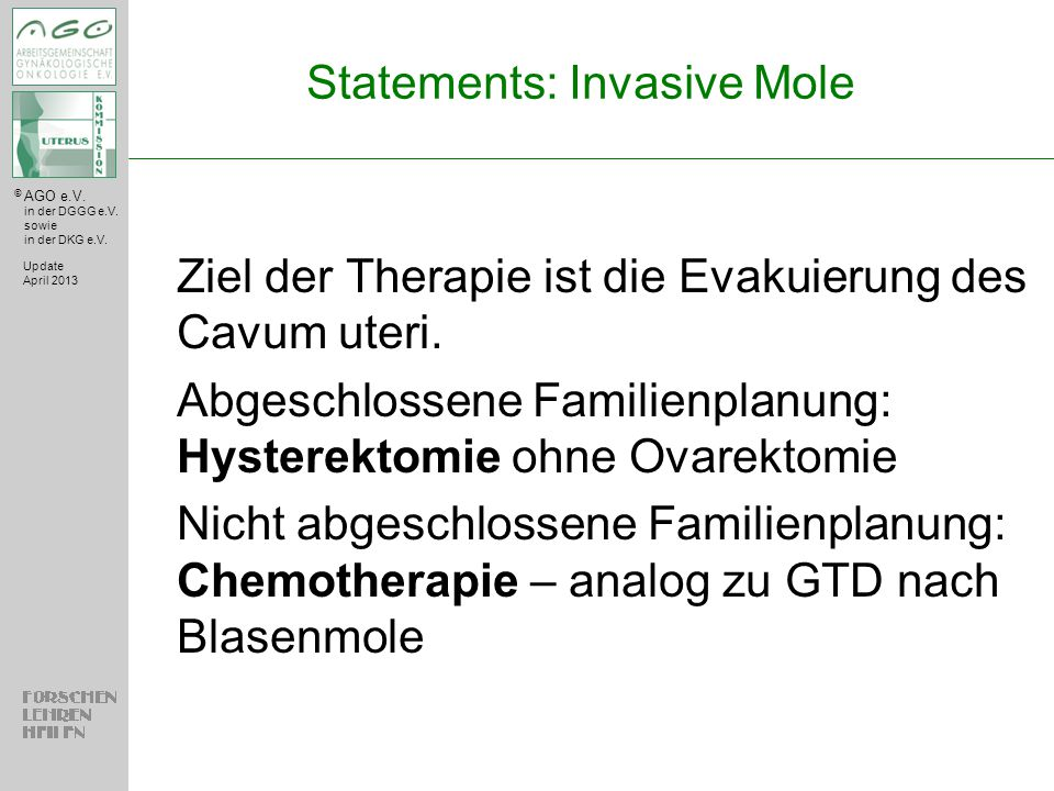 Statements: Invasive Mole
