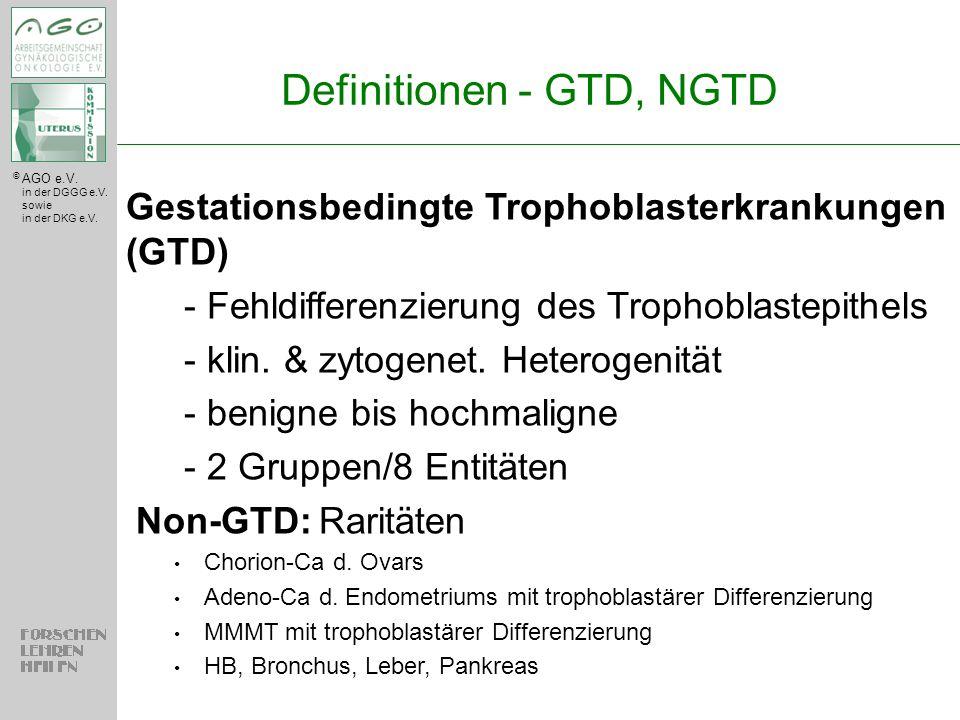 Definitionen - GTD, NGTD