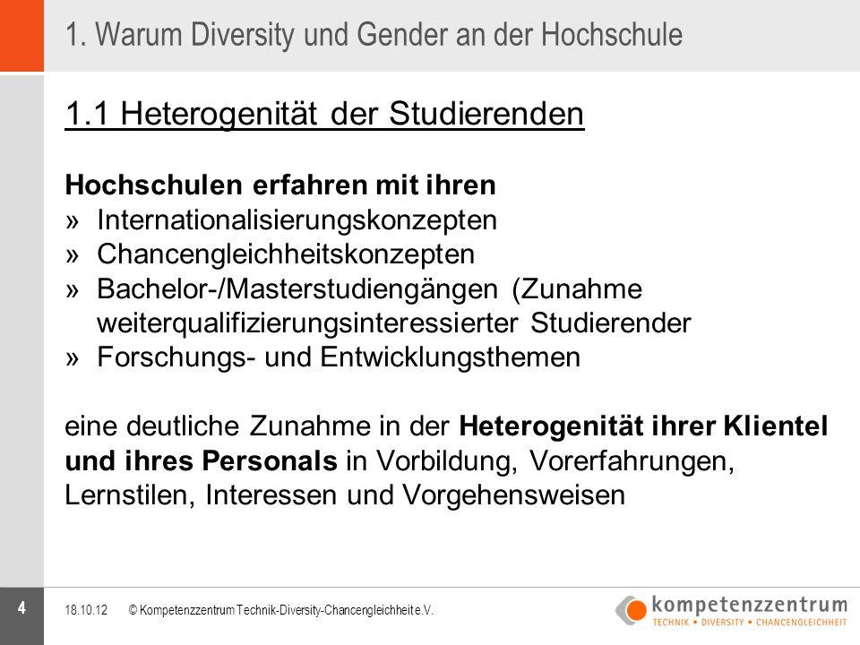 1. Warum Diversity und Gender an der Hochschule