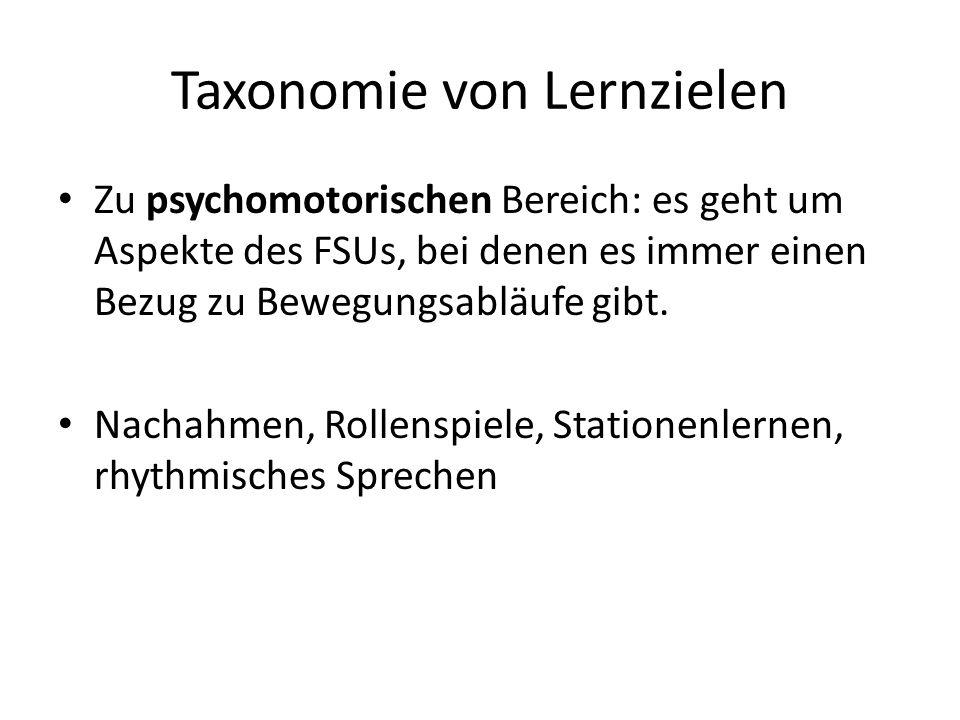 Taxonomie von Lernzielen