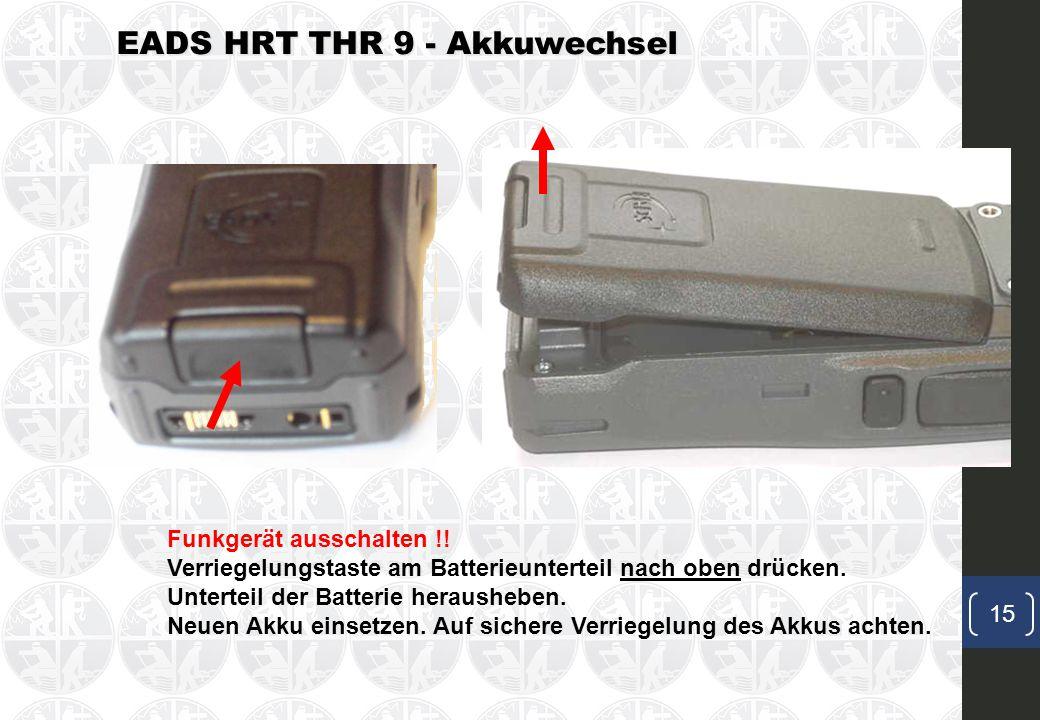 EADS HRT THR 9 - Akkuwechsel