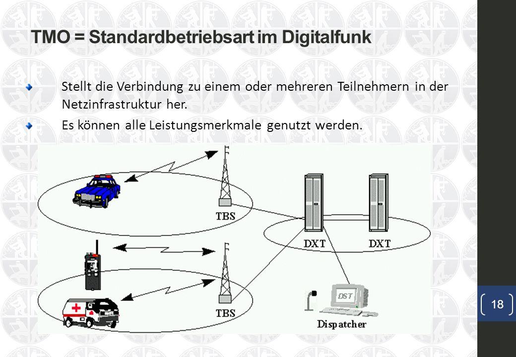 TMO = Standardbetriebsart im Digitalfunk
