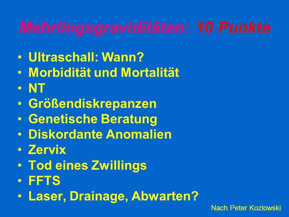 Mehrlingsgraviditäten: 10 Punkte