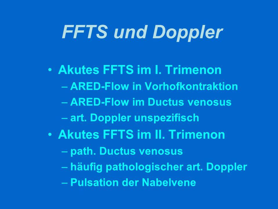FFTS und Doppler Akutes FFTS im I. Trimenon