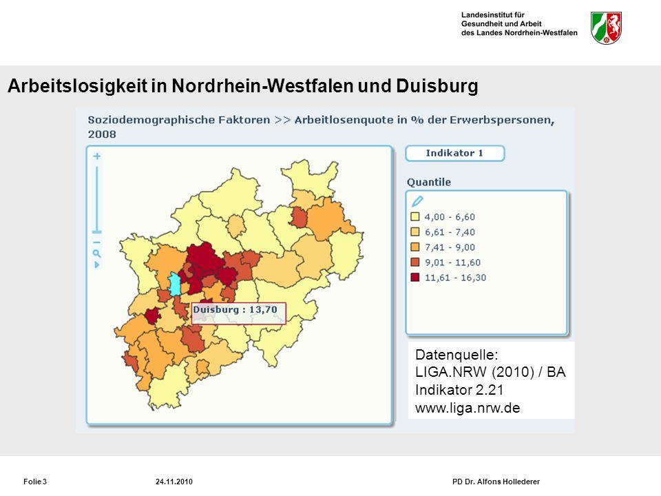 Mittlere Lebenserwartung der Männer in NRW und Duisburg 2006/2008
