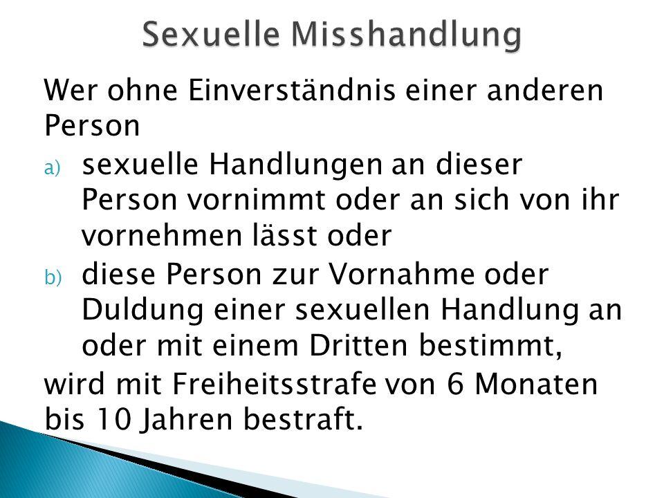 Sexuelle Misshandlung