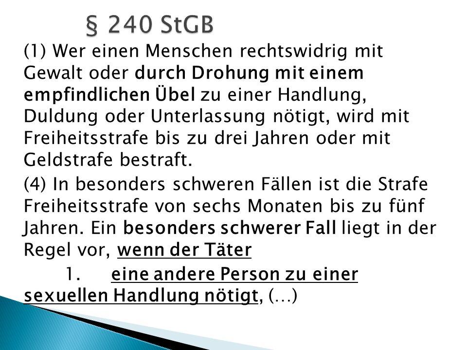 § 240 StGB