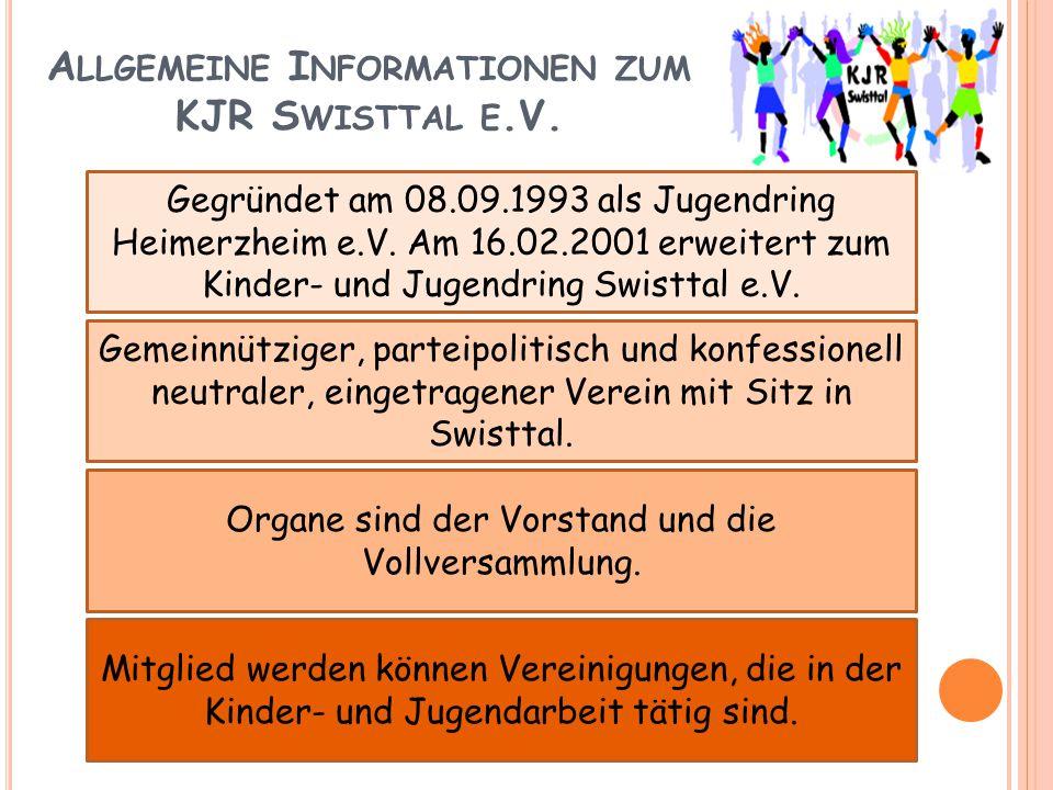 Allgemeine Informationen zum KJR Swisttal e.V.