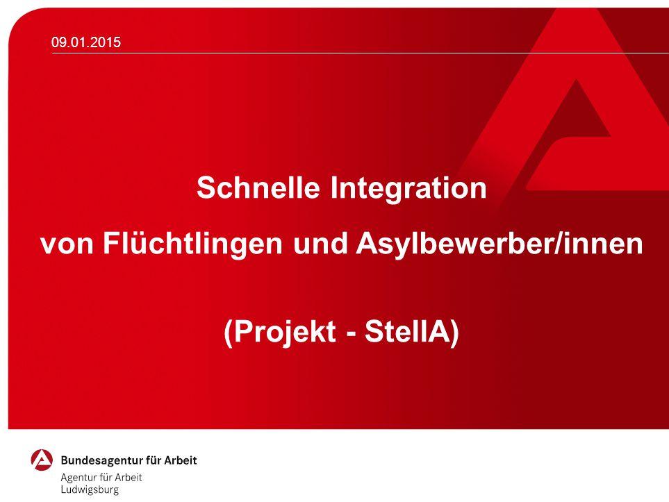 09.01.2015 Schnelle Integration von Flüchtlingen und Asylbewerber/innen (Projekt - StellA) Möchten Sie das Logo ändern