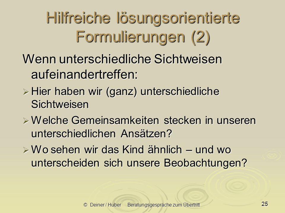 Hilfreiche lösungsorientierte Formulierungen (2)