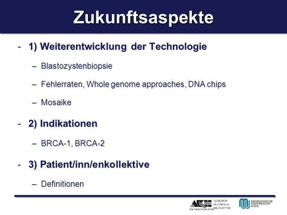 Zukunftsaspekte 1) Weiterentwicklung der Technologie 2) Indikationen