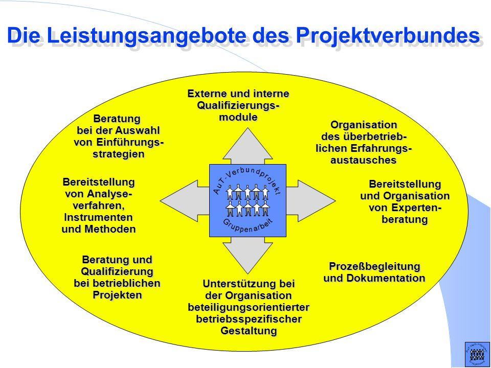 Die Leistungsangebote des Projektverbundes