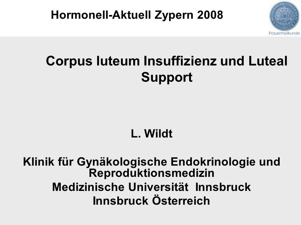 Corpus luteum Insuffizienz und Luteal Support