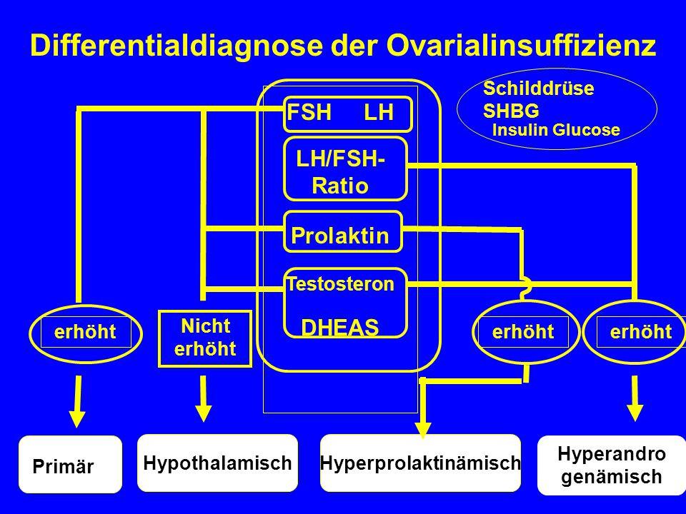 Differentialdiagnose der Ovarialinsuffizienz Hyperprolaktinämisch